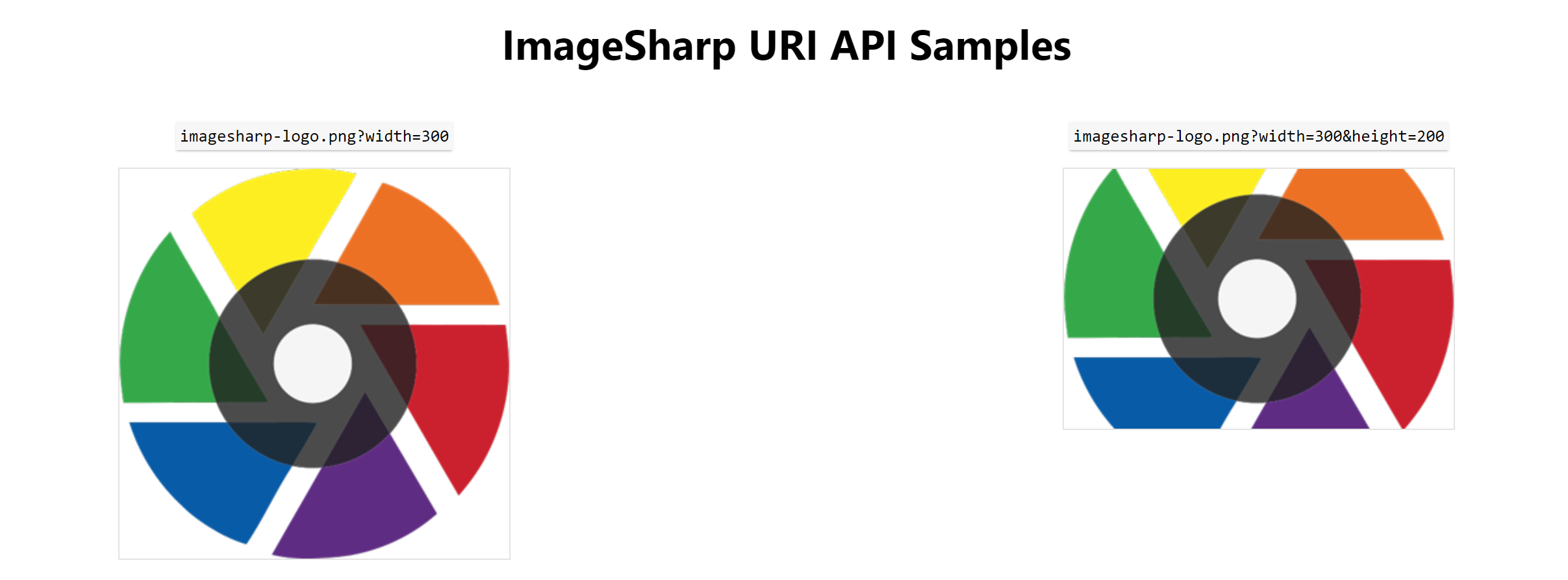 Output example for ImageSharp.Web